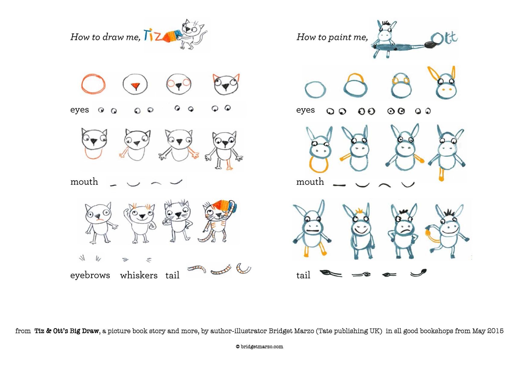 Bridget's Howtodraw Tiz&ott Kids Handouts €� Bridget Marzo: Authorillustrator